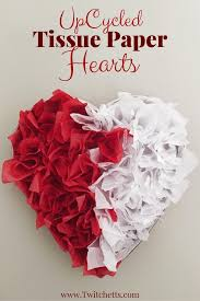 Decorating Boxes With Paper Tissue Paper Heart Valentine's Day Decorations Twitchetts 79