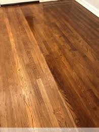 refinishing red oak hardwood floors adding stain to first coat of polyurethane to darken the color 2