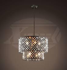 bella jean antique bronze 8 light double round crystal chandelier 18 wx17