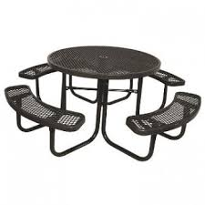 ilife supersaver commercial round picnic table 818 85