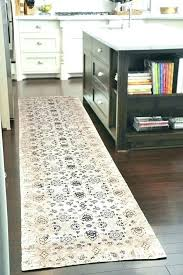 navy tribal runner rug in kitchen rugs area floor beige white under table