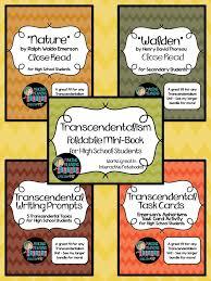 best th grade transcendentalism images transcendentalism bundle notes close reads emerson thoreau more