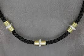 horse hair and diamond necklace