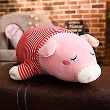 VANVO 45-85cm <b>Cute Pig</b> Plush Toy Stuffed Soft <b>Animal</b> Cartoon ...