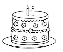 Birthday Cakes Coloring Sheets Psubarstoolcom