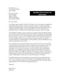Cover Letter For Government Internship The Letter Sample
