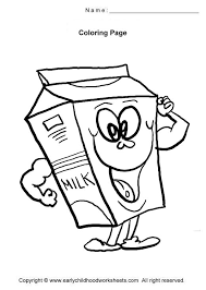 milk funny food coloring pages on cute food coloring pages