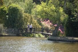the cascade bridge upper woman s way pond sheffield park gardens sus england