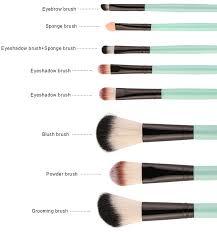 eyebrow brushes kit. 18pcs facial makeup brushes kit eyebrow