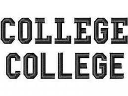 Word College College Machine Embroidery Designs