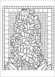 Small Picture Floral Mosaics Creative Haven Coloring Book 060863 Details