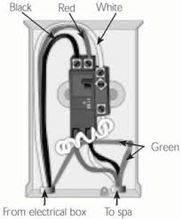 helpful electrical details for dimesnion one spas and most v ensure that jumpers 1 and 2 on the pc board are configured to match the breaker being used check the wiring diagram on inside