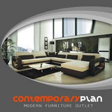 details about ultra modern italian leather sectional sofa contemporary design cream and black