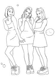 Small Picture coloring sheet of 3 cute girls Coloring Point Coloring Point