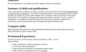 Resume Executive Secretary Resume Examples Resume Objective