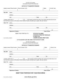 Download Free Alaska Motor Vehicle Bill Of Sale Form Form