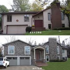 ranch home exterior makeover before after. exterior remodel ranch home makeover before after