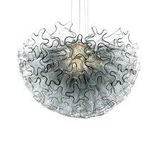 viz glass chandelier viz glass chandelier smoke grey dahlia mini chandelier murano glass chandelier modern