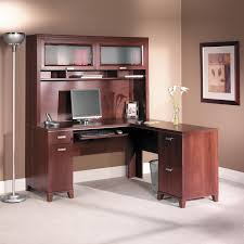 bush tuxedo cherry computer desk with optional hutch desks at hayneedle bush desk hutch office