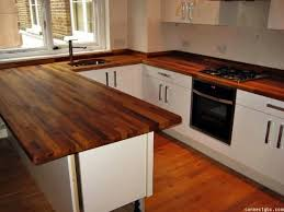 wood and butcher block countertop