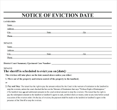 Free Tenant Eviction Notice 30 Day Template As Printable Form Bc