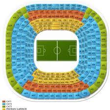 Santiago Bernabeu Stadium Guide Seating Plan Tickets