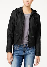 american rag knit hood faux leather jacket only at macy s