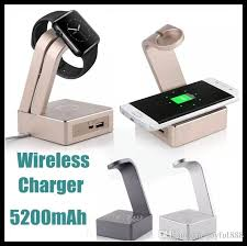 apple qi charger. new aluminum metal charging stand station for apple watch qi wireless pad plate 5200mah portable power bank s6 edge plus note 5 charger t