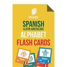 Spanish Alphabet Flashcards Anki For Beginners Speakada