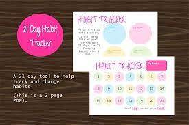 Day Tracker Planner 21 Day Habit Tracker Planner Pdf Printable Orwaysorganised