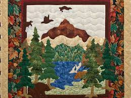 Bear and Moose Quilt -- outstanding carefully made Amish Quilts ... & ... Bear and Moose Wall Hanging Photo 2 ... Adamdwight.com