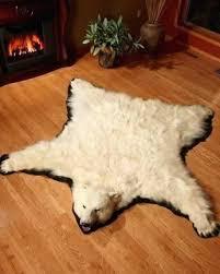 white bear rug polar bear rug pertaining to skin rugs grizzly buffalo hide prepare 6 white