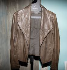 details about vince women s crossfront leather jacket xsmall msrp 990 in ash