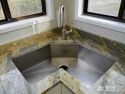 ... Lofty Idea Corner Kitchen Sink 8 Corner Stainless Sink ...