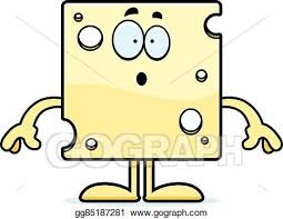 swiss cheese slice drawing.  Slice Surprised Cartoon Swiss Cheese In Slice Drawing