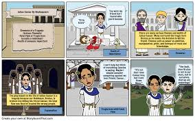 julius caesar storyboard by rebeccaray choose how to print this storyboard