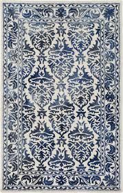 plushrugs imports pure nyleve 8 x10 navy off white rug
