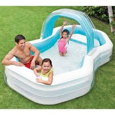 inflatable garden furniture. Outdoor Inflatable Pool Family Size PVC Nylon White Blue 700L Garden Furniture M