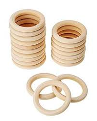 <b>20PCS 70MM</b> Solid Wooden Rings Wooden Teething Ring Natural ...