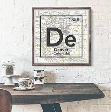 Amazon Com Denver Colorado De Vintage Periodic Chart Map