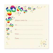 Blank 50th Birthday Party Invitations Templates Birthday