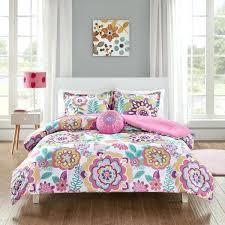 mi zone pink fl 4 piece comforter set bedding duvet sets fox girls bedding set pink