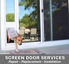 patio screen door repair replacement installers
