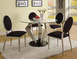 glass top dining table with metal chair
