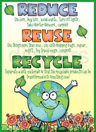 Reduce, Reuse, Recycle poster! Made using clip art from DJ Inker's  Kidoodlez Science