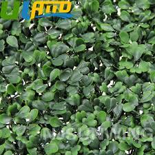 uland 24pcs artificial boxwood hedge uv mat wall decor grass fake fence 10 x10 for