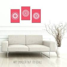 coral color wall decor coral wall art chic wall decor set of 3 prints unframed poster set mandala print geometric artwork color wall art set wedding set art  on chic wall art set with coral color wall decor coral wall art chic wall decor set of 3