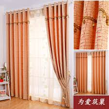 fascinating orange curtains for living room with sheers light