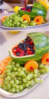 Decorated Fruit Trays Baby Shower Fruit Tray Ideas Baby shower fruit Decoration and Babies 66