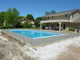 vinyl liner pool construction & installation process penguin pools Inground Pool Diagram pour concrete around vinyl liner pool in brookfield, wi inground pool diagram